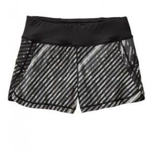 Athleta Pulse Printed Running Shorts Striped XS